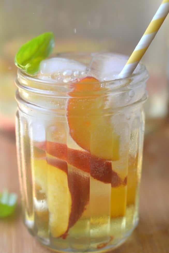 Summer Peach and Basil Sangria