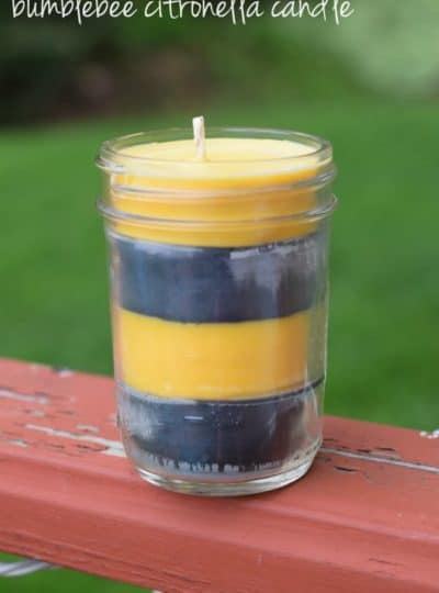 How to Make a Bumblebee Citronella Candle