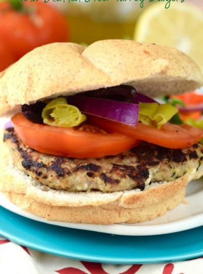 Feta Stuffed Greek Turkey Burgers