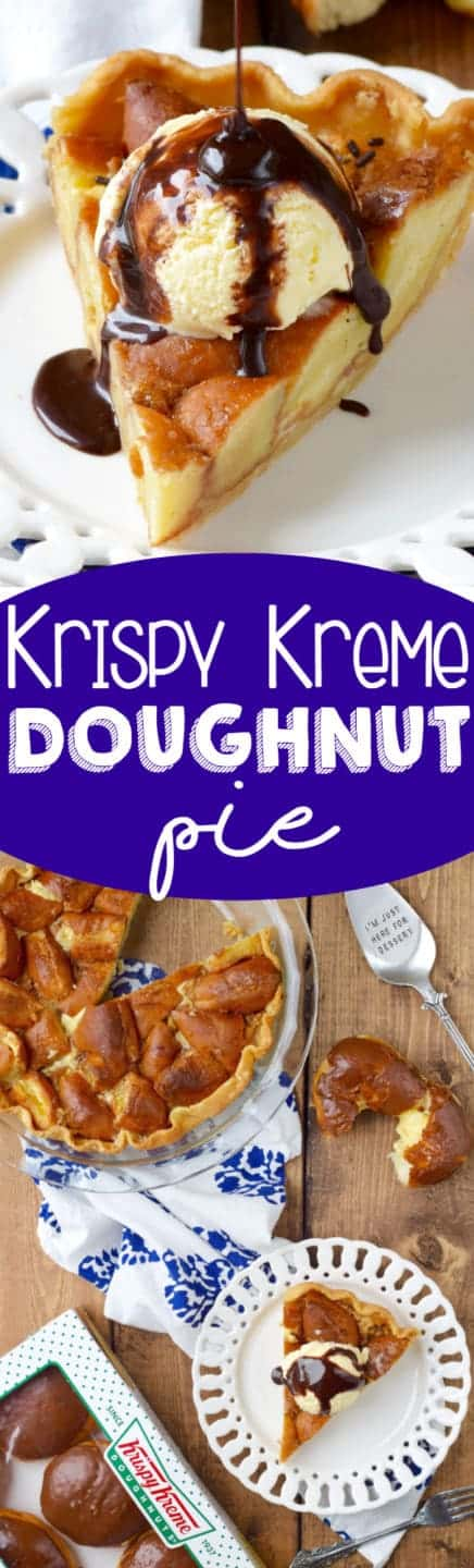 Krispy Kreme Pie! Yup. I made a whole pie out of Krispy Kreme Donuts ...