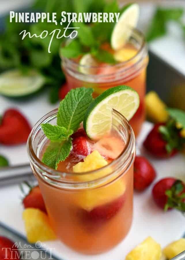 Pineapple Strawberry Mojito