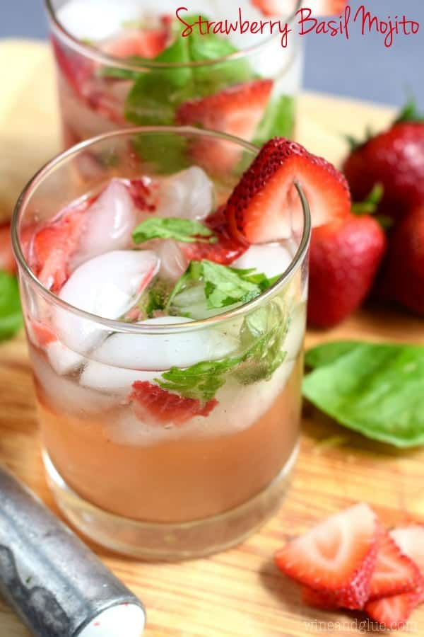 "This Strawberry Basil ""Mojito"" is made the same way you make a moji..."
