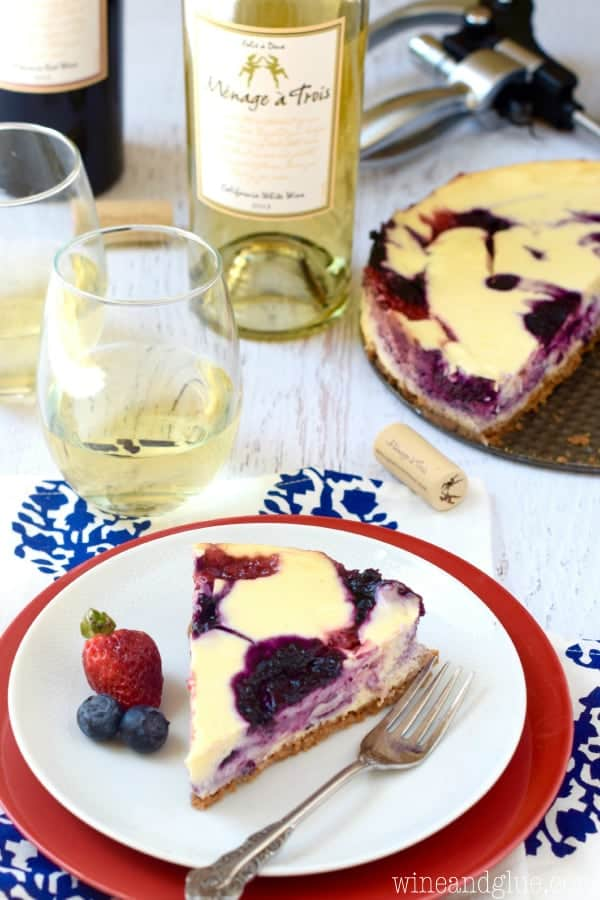 This Berry Swirl Cheesecake with waves of fresh strawberries and blueberries is so perfect for summer celebrations or anytime!