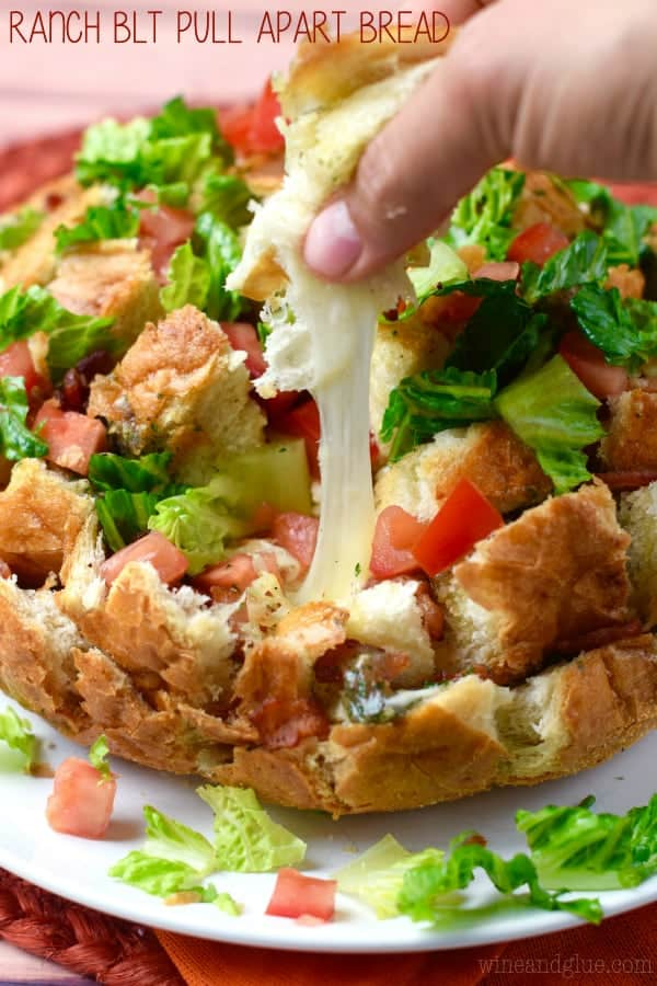 Ranch BLT Pull Apart Bread