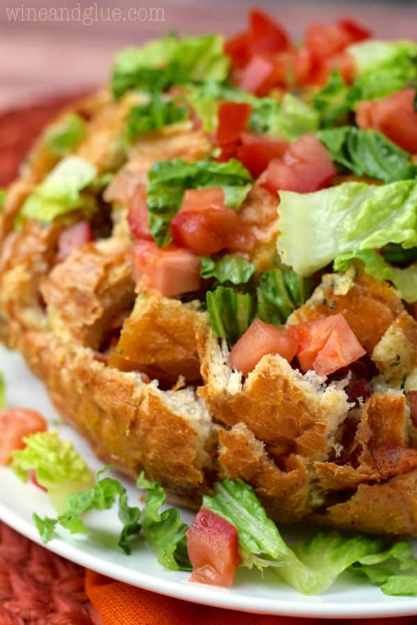 This Ranch BLT Pull Apart Bread is super simple to put together but is packed with flavor!