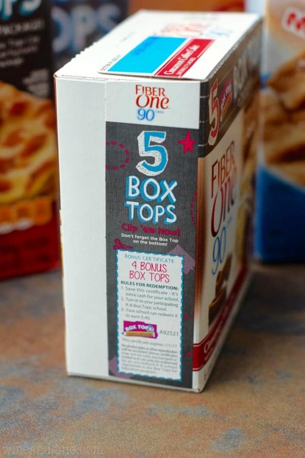 The side of a Fiber One Box showing the Box Top