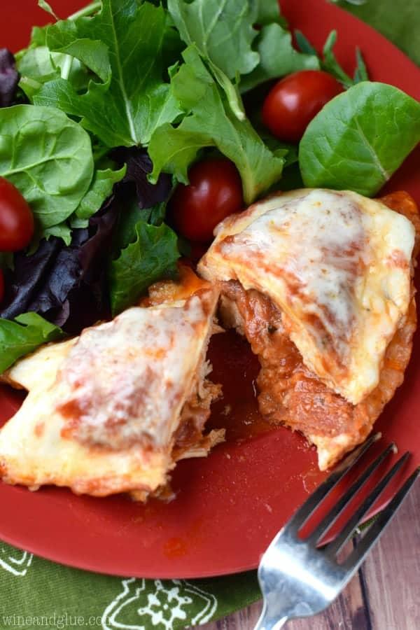 Pizza Stuffed Chicken - Wine & Glue