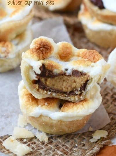 S'mores Peanut Butter Cup Mini Pies