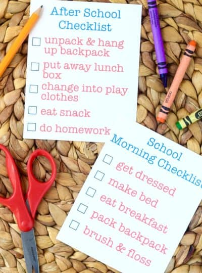 Before and After School Checklist Printable {PDF & Silhouette Cut + Print files}