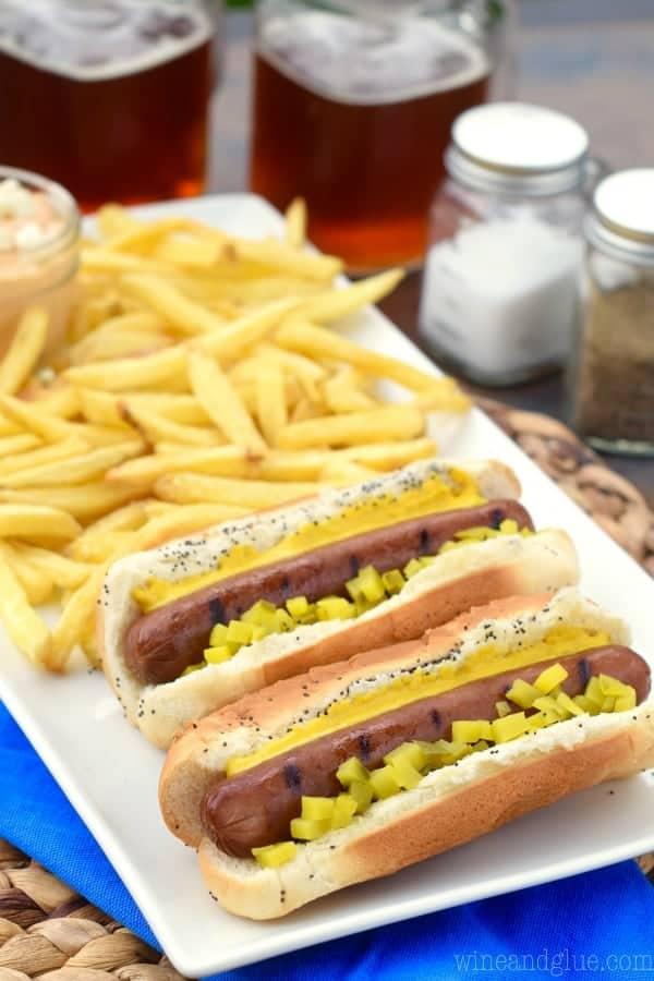 Totally perfect for summer grilling are these Ball Park Park's Finest frankfurters!