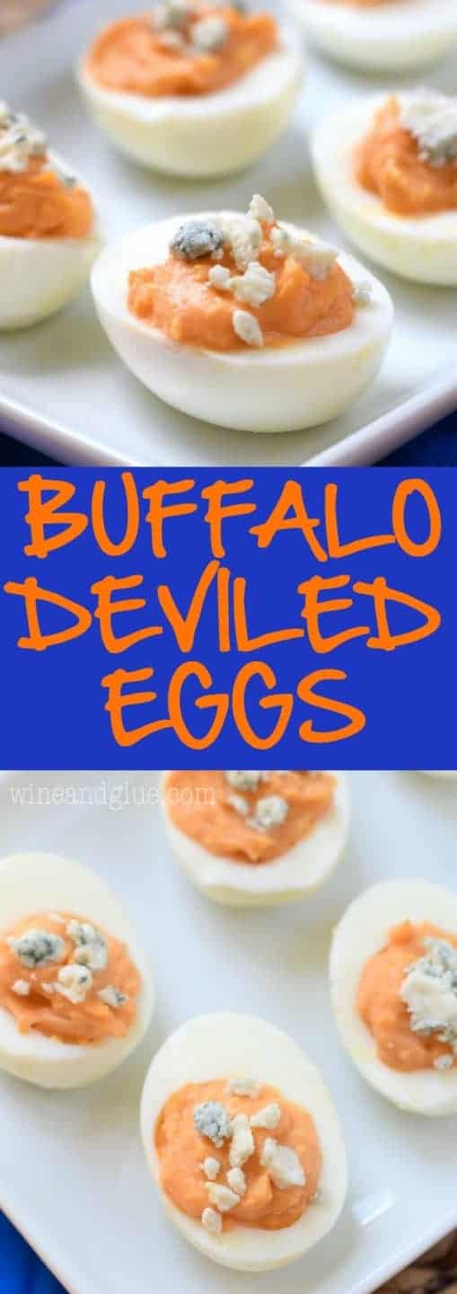 These Buffalo Deviled Eggs are the real deal! They are crazy good and simple to make! Try not to eat the whole batch yourself!