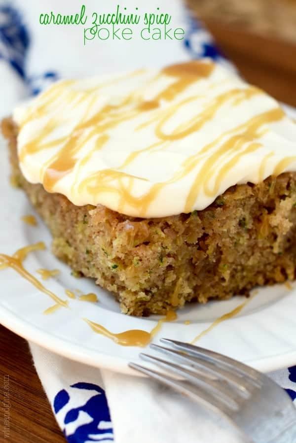 caramel_zucchini_spice_poke_cake