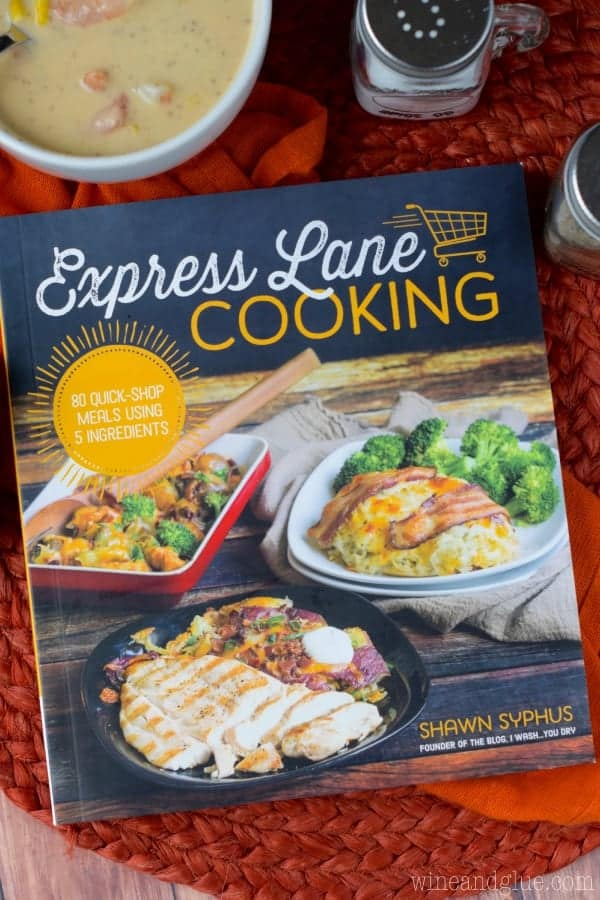 An overhead photo of the book called Express Land Cooking by Shawn Syphus