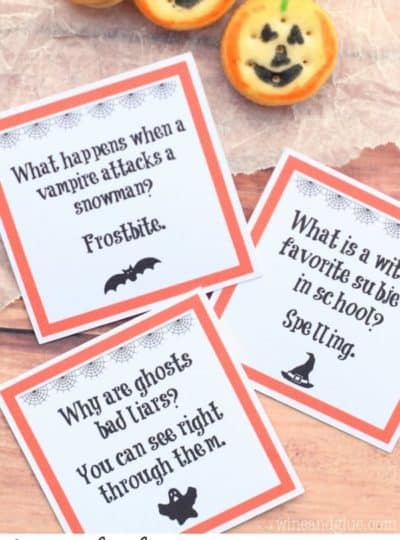 Halloween Lunch Box Jokes {PDF & Silhouette Files}