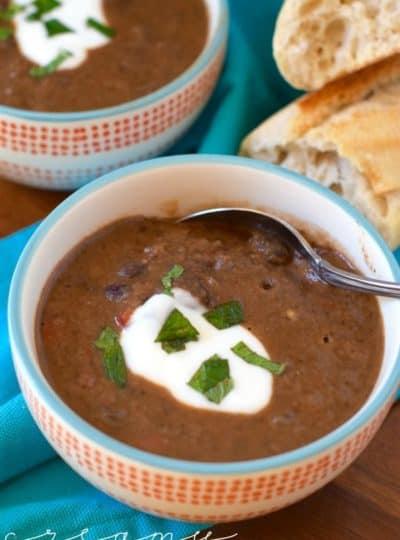 Creamy Chipotle Black Bean Soup