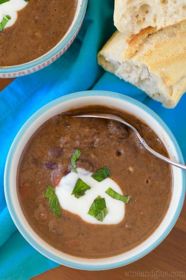 Creamy Chipotle Black Bean Soup - Wine & Glue