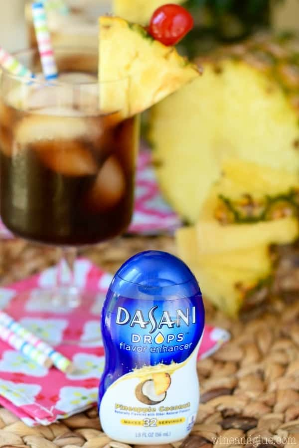 A photo of the Dasani Drops Flavor Enhancer for the flavor Pineapple Coconut.