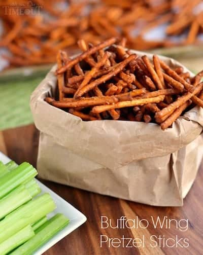 Buffalo Wing Pretzel Sticks