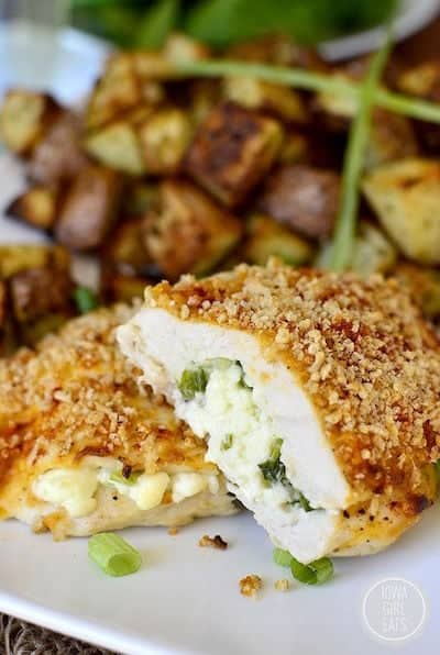 Crunchy Stuffed Buffalo Chicken