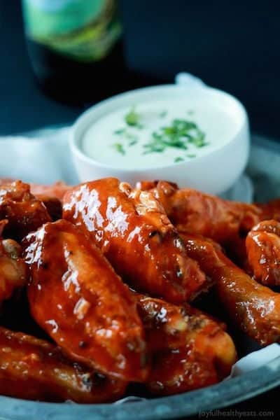 Classic Buffalo Baked Chicken Wings