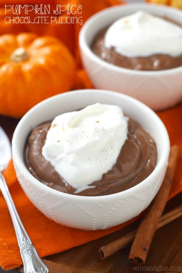 Pumpkin Spice Chocolate Pudding