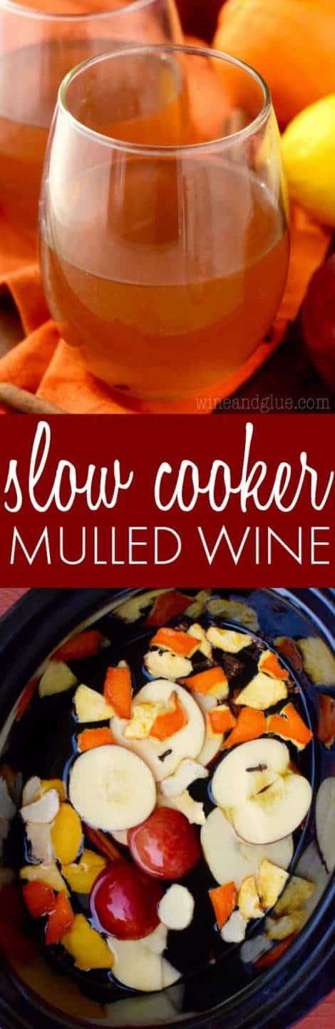 In a glass, the Slow Cooker Mulled Wine has a cinnamon brown color.