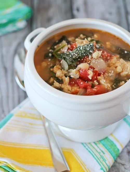 20 Minute Healthy Italian Turkey Bean Soup