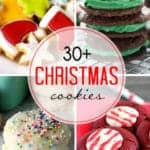 collage of photos of Christmas cookies
