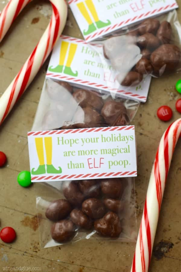 This Elf Poop Printable is so simple but so fun! A perfect and easy gift for kids to give friends.