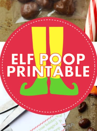 Elf Poop Printable {PDF and Silhouette Files}