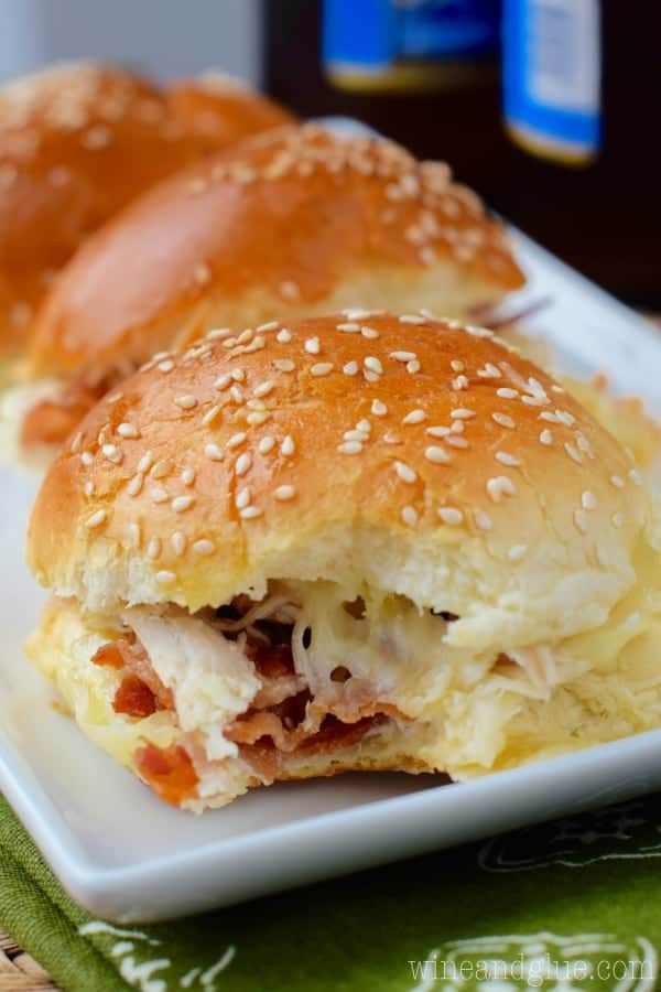 These Turkey Bacon Ranch Sliders are the perfect combo of flavor and so easy to throw together! Good luck only eating one!