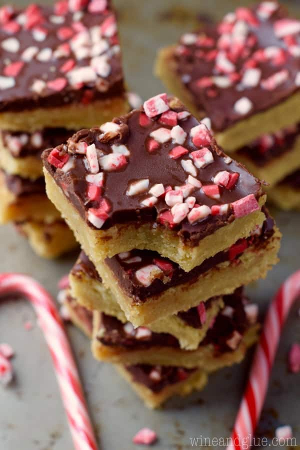 Chocolate Peppermint Sugar Cookie Bars