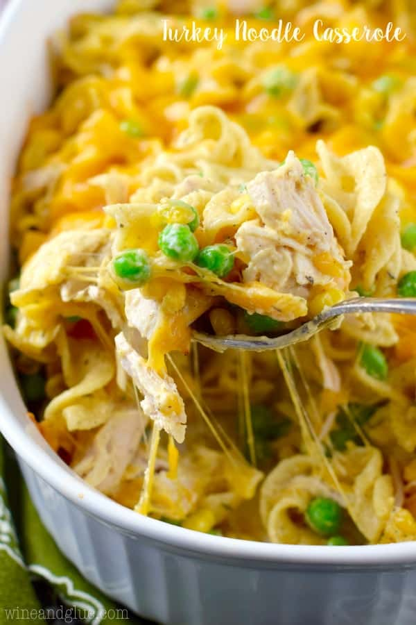 This Turkey Noodle Casserole is ready in under 30 minutes and it is ...