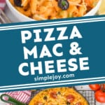 pinterest graphic of macaroni and cheese