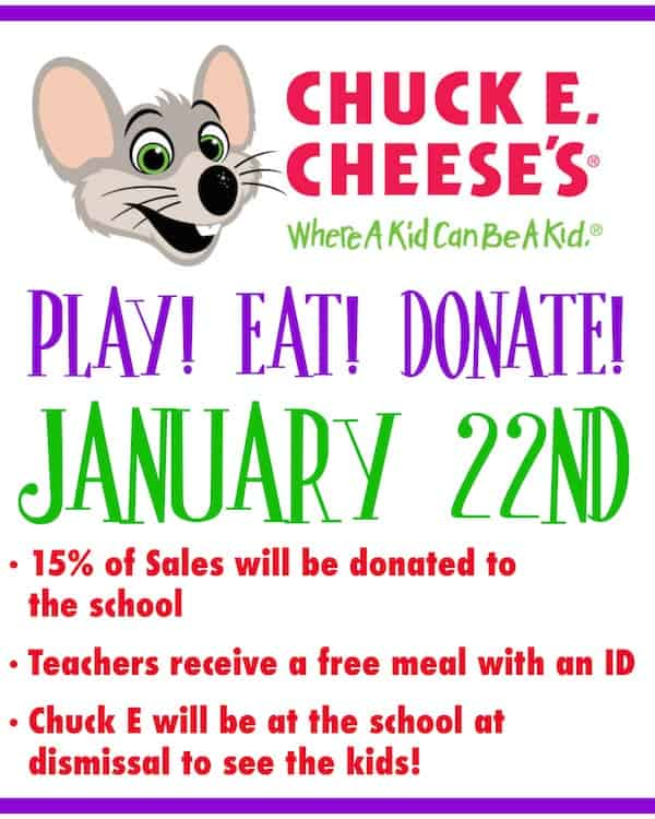I'm so excited to be partnering with Chuck E Cheese to tell you about hosting Fundraisers and Birthday Parties there!