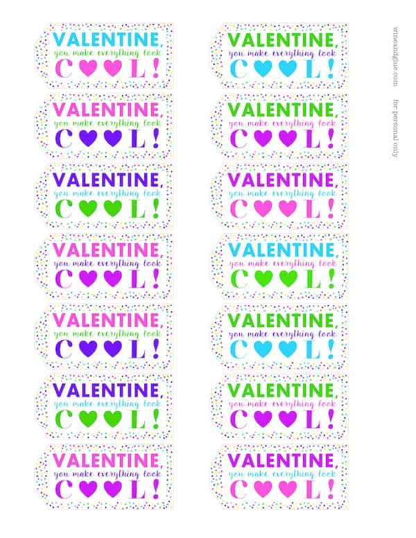 I love these Valentine Sunglasses Printable! PDF File & Silhouette Print & Cut File