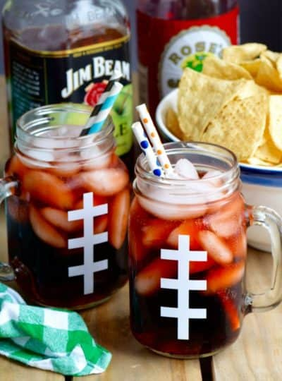 Super Bowl Slammer & DIY Football Glasses