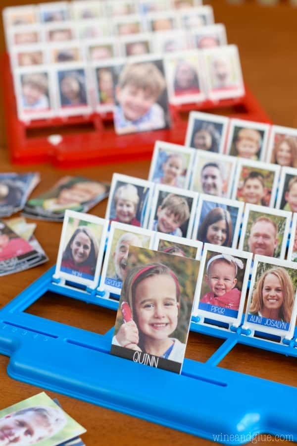 This Family Guess Who Game is easy to put together and so fun to play!