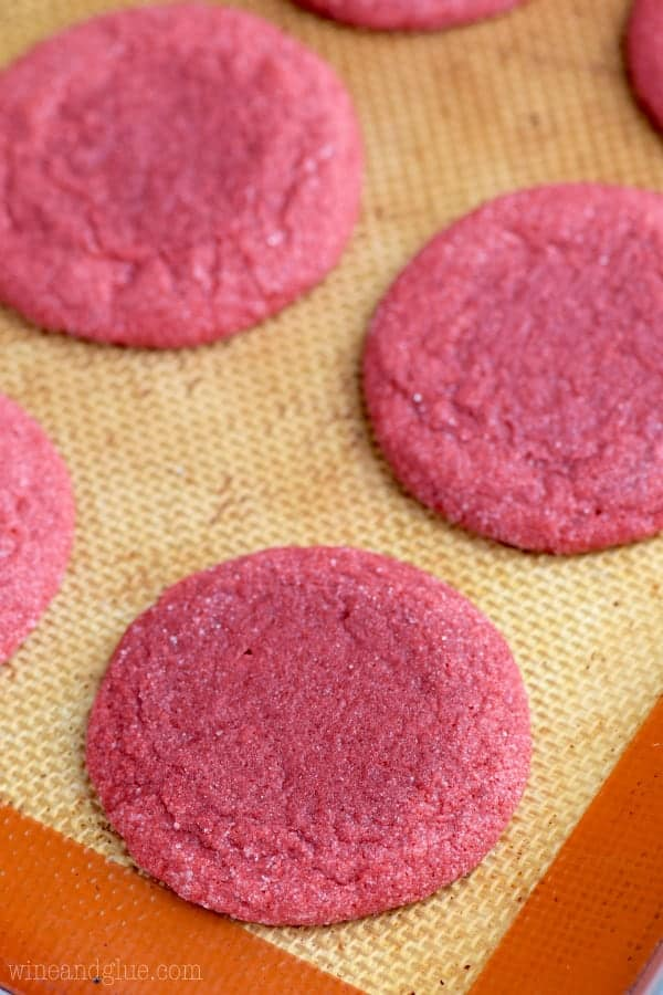 These Red Velvet Sugar Cookies are all the delicious flavor of red velvet, buttery soft, and crisp on the outside. AMAZING!