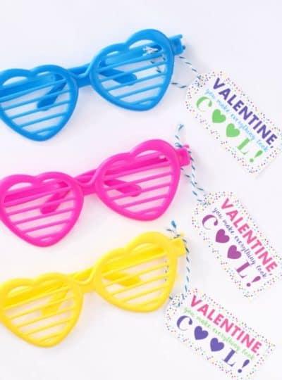 Valentine Sunglasses Printable {PDF & Silhouette Print and Cut}