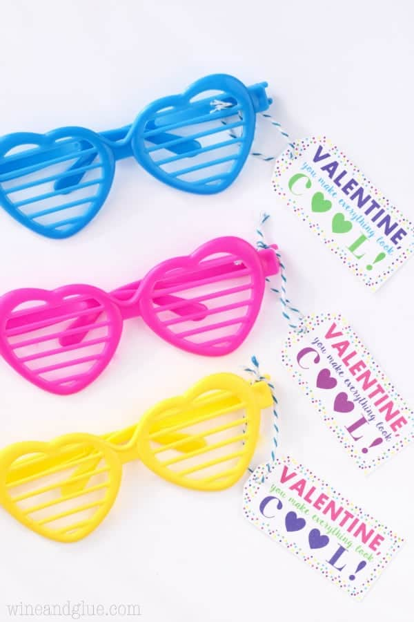 Valentine Sunglasses Printable {PDF & Silhouette Print and Cut}