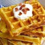 Bacon Cheddar Sour Cream Waffles