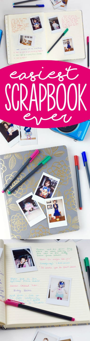 Literally the Easiest Scrapbook Ever, you HAVE to start doing this to record your funny family moments!