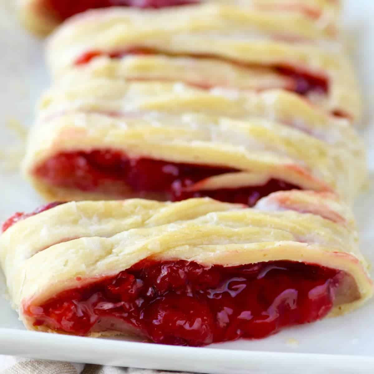 Cherry Almond Braid by Wine & Glue