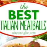 collage of photos of the best Italian meatballs