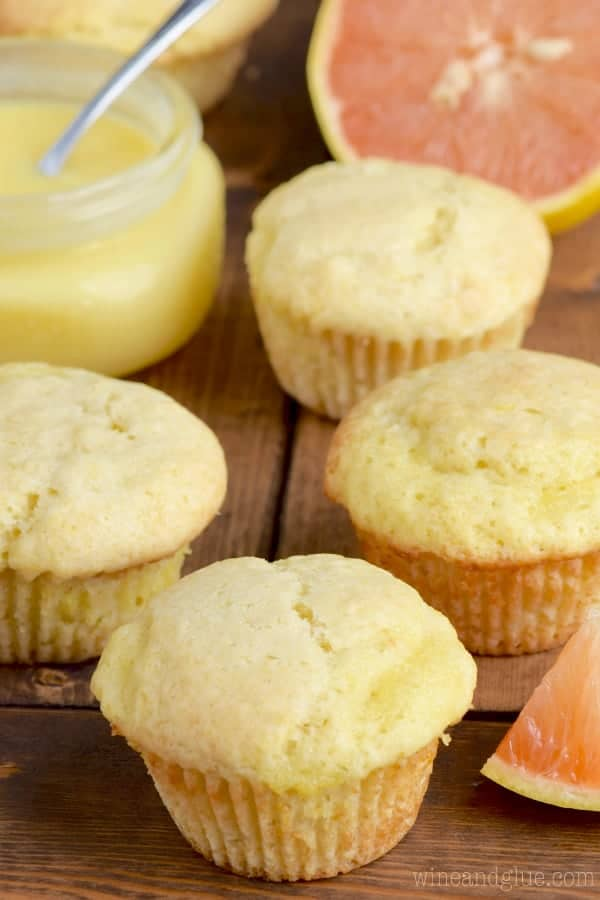The Grapefruit Muffin has a golden yellow color.