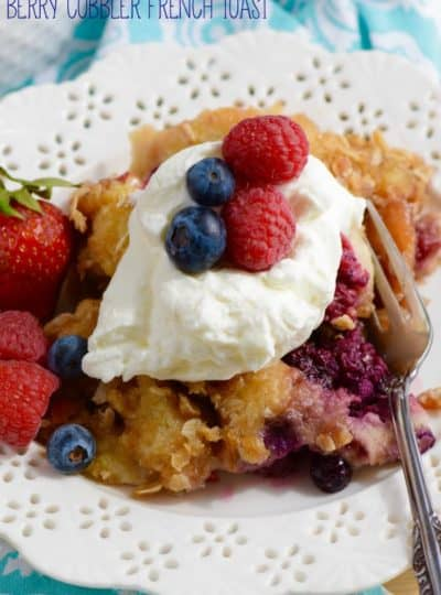 Overnight Berry Cobbler French Toast