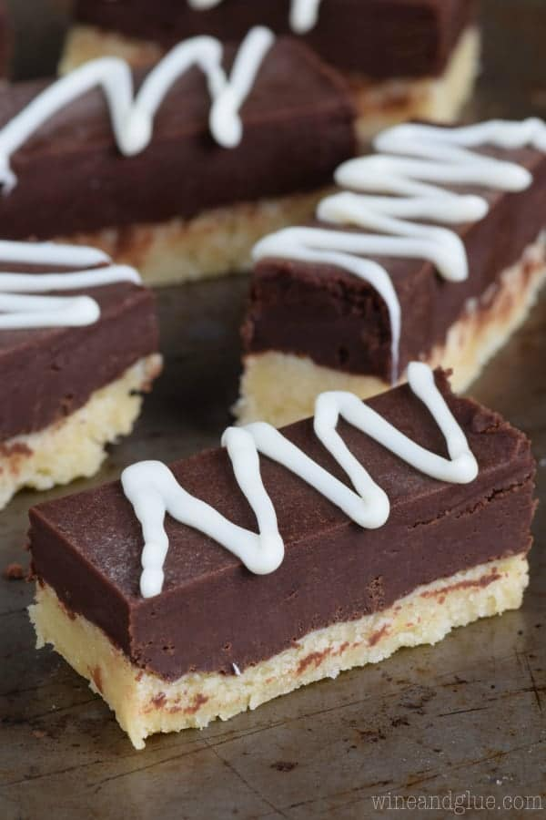 These Sugar Cookie Fudge Bars are only about 10 minutes of hands on time, but THREE awesome layers of deliciousness! So rich and good!