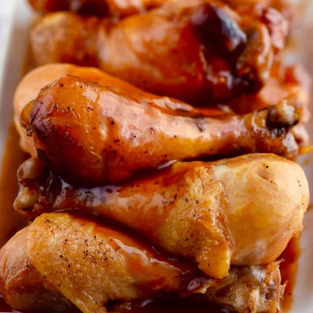 Honey BBQ Chicken Drumsticks by Wine & Glue