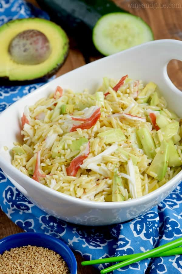 California Roll Orzo Pasta Salad
